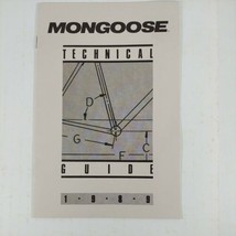Mongoose Technical Guide 1989 Bicycles Service Cycle Bicycle Company  - $19.99