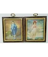 Set of 2 Vintage Framed Royal French Prince Princess Prints 1960s Countr... - $9.89