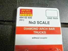 Micro-Trains Stock # 004002400 (961) Diamond Arch Bar Trucks Nn3 1 Pair image 2