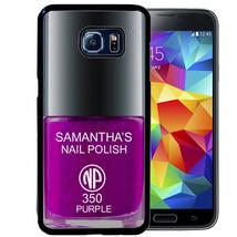 PERSONALIZED CASE FOR SAMSUNG S9 S8 S7 S7 S6 EDGE PLUS RUBBER PURPLE NAI... - $13.98