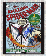 Stan Lee Autographed The Amazing Spider-Man #1 Comic Cover 8x10 Photo  - $400.00