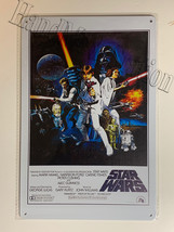 "Star Wars Old Movie poster Wall Metal Sign plate Home decor 11.75"" x 7.8"""