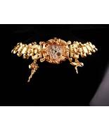 Fabulous Fairy watch - Kirks Folly - Gold rhinestone charm bracelet - ru... - $125.00