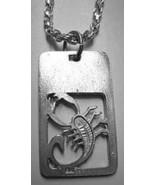 NICE Scorpio Dog Tag collar design Zodiac Charm Jewelry - $19.27