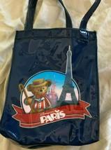"""Disneyland paris reusable plastic small tote bag 7"""" X 6"""" - $12.86"""