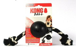 1 Count Kong Extreme Ball With Tug & Toss Rope Large Toughest Natural Ru... - $27.99