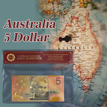 WR Colored Australia $5 Polymer Gold Banknote Centenary of Federation 20... - $3.68