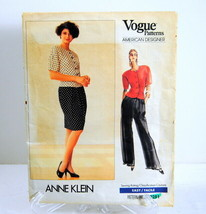 Vogue Patterns American Designer Anne Klein #2281 Misses Top Skirt Pants... - $12.95