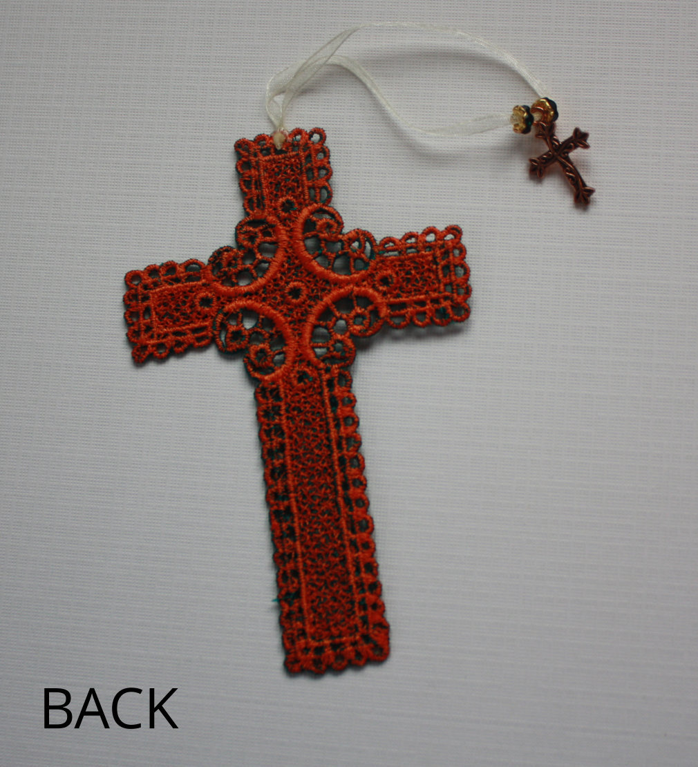 New Embroidered Lace Cross Bookmark Christian Bible Easter