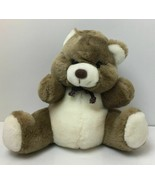 Vtg Westcliff Collection Plush Brown & Cream Teddy Bear Baby Rattle Toy ... - $29.65