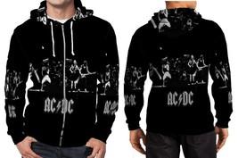 AC DC full black wp image Hoodie Zipper Fullprint Men - $46.80