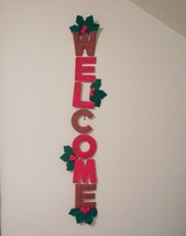 Welcome Sign, felt Christmas wall hanging, Christmas welcome sign - $12.50