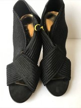 Vince Camuto Womens 'Sasha' Open Toe Elastic Sandals Black 7.5B - $26.82
