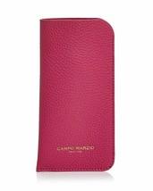 Campo Marzio Sunglasses Case Pink Soft Interior Pebbled Genuine Leather NIB - $18.99