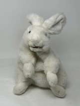 "Folkmanis Plush Standing White Rabbit Hand Puppet 11"" Soft Stuffed Animal - $22.99"