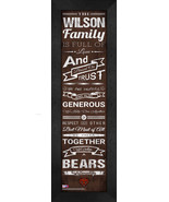 "Personalized Brown University Bears ""Family Cheer"" 24 x 8 Framed Print - $39.95"