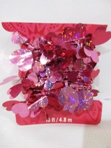 Valentines Day Foil Red Pink Heart Foil Garland Decoration Decor 16FT - $7.99