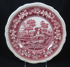 Copeland Spode Tower Pink Luncheon Plate England Old Mark Stamp Vintage ... - $29.99