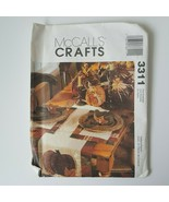 McCall's Crafts 3311 Sewing Pattern  Fall Pumpkins Thanksgiving Table Se... - $8.90
