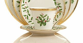 Lenox Holiday Tea Cup And Saucer New - $39.58