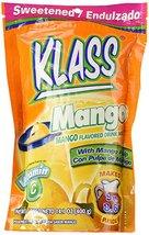 KLASS Mango Instant Drink Mix, 14.1 oz Makes 9 ... - $9.74