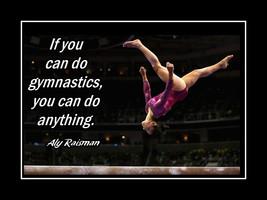 Aly Raisman Female Gymnastics Quote Poster Inspiration for Girls Wall Ar... - $19.99+