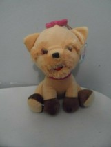 "Nanco puppy dog plush 10"" Pink Bow  - $9.85"