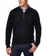 Kirkland Signature Men's Extra Fine Merino Wool ¼ Zip Sweater, Black, Si... - $23.75