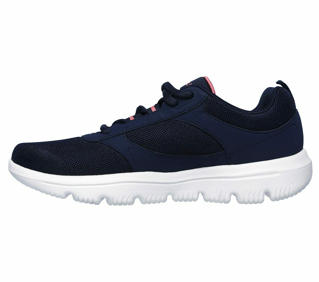 Skechers Navy Coral shoes Women Go Walk Comfort Mesh Casual Sporty Lace Up 15734 image 3