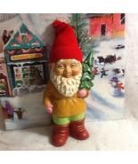 Rare St Patrick's Day / Christmas Santa's Helper Elf Ceramic Figure W/ P... - $18.00