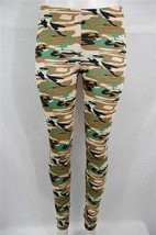 New Women's Yelete Fashion Footless Stretch Leggings Camouflauge Design - $11.99