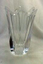 """Orrefors Crystal Tulip Vase Signed 8"""" - $103.94"""