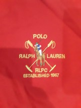 Men's Polo Ralph Lauren Red white Polo Rugby Shirt RLPC 1967 Large - $19.79