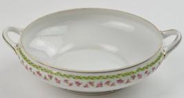 Nippon China Hand Painted Pink Rose Pattern Round Vegetable Bowl No Lid Vintage - $29.99