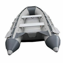BRIS 10.8 ft Inflatable Boat  Raft Fishing Dinghy Tender Pontoon Boat Gray  image 8