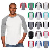 Next Level Premium 3/4 Sleeve Raglan Baseball Tee Tri-Blend T-Shirt XS-3... - $7.97+
