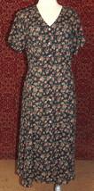 EXPRESS VTG black floral maxi dress M (T45-02G8G) - $19.78