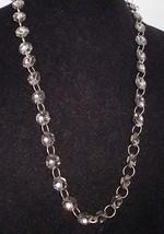 VTG Gold Tone Clear Cut Glass Rhinestone Beaded Necklace - $19.80
