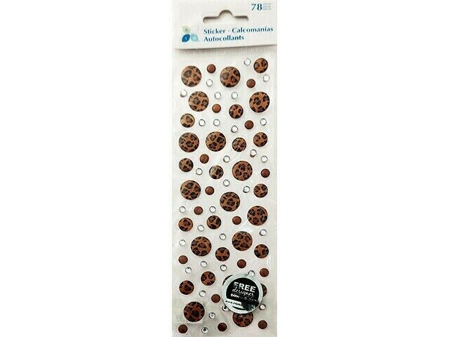 Momenta Leopard Print Round Stickers and Rhinestone Stickers #ST-3639