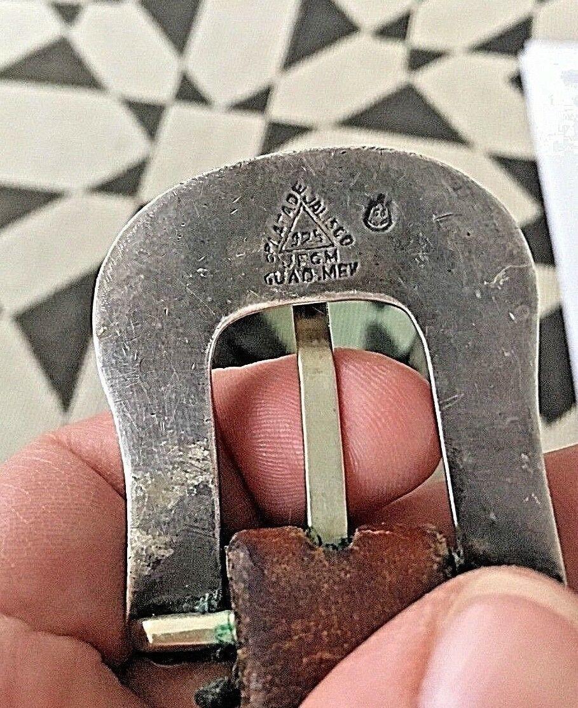 BOHLIN MADE BELT RANGER PLATA DE JALISCO STERLING SILVER BUCKLE Leather Western image 9