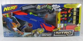 NEW Hasbro Nerf Nitro Motofury Rapid Rally Foam Cars Motorized Fire Blas... - $28.01