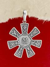 Silver Pendant Necklace/Handmade/Pliska Rosette Pendant/P335 - €17,91 EUR