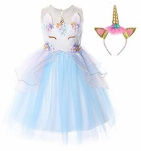 TTYAOVO Flower Girls Unicorn Costume Kids Pageant Princess Party Dress w... - $26.32