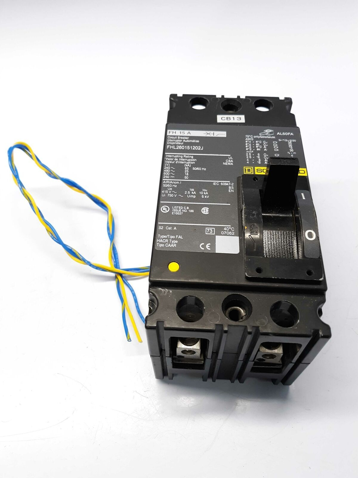 Primary image for Fuji FHL260151202J Circuit Breaker / Aux Switch
