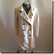 J. Crew Double Breasted All Cotton Classic Twill Chino Coat Jacket 10 - $53.13