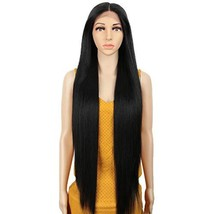 REMY FORTE 38 Inches Super Long Synthetic Hair Wigs Extra Long Lace Front Straig image 1