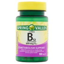 Spring Valley Vitamin B12 Tablets, 500mcg, 100 Count.. - $9.89