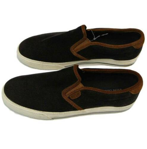 New Polo Ralph Lauren Vaughn Slip II Corduroy / Leather Slip-n Sneaker Shoes 9.5