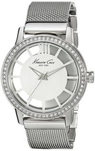 NWT Kenneth Cole KC4954 Women's Transparency Silver Dial Stones Detail Watch - $103.90