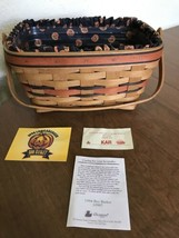 Longaberger Boo Basket, Fabric Liner and Plastic Insert Dated 1994 - $24.50
